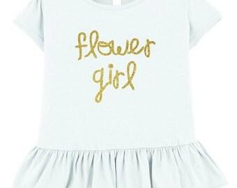 Flower Girl Ruffle T-Shirt