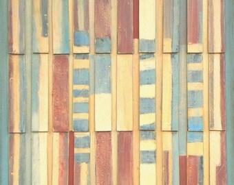 Original Mixed-media Abstract Folk Art Painting