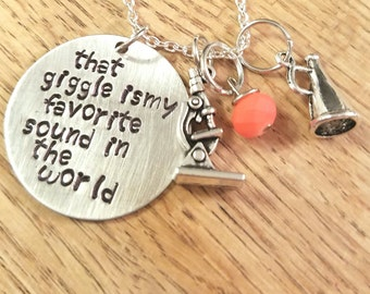 Girl Meets World-Riarkle hand stamped necklace-Riley Matthews and Farkle Minkus