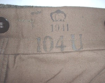 Swedish Army wool field trousers 1941 dated; size large-regular