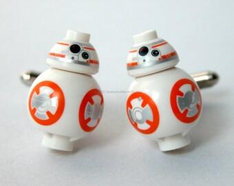 BB8 Cufflinks - Lego Star Wars Cufflinks - The Force Awakens - Gift for HIm - Best Man Gift - Wedding Cufflinks - LEGO Wedding -Geek Jewelry