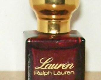 Vintage Ralph Lauren Miniature  'Lauren' Perfume edt  3.5ml