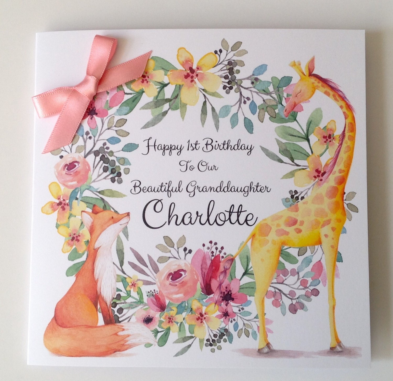Daughter S 9th Birthday Quotes: Cute Personalised 1st Birthday Card Daughter Granddaughter