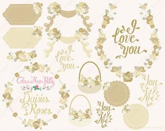 Daisies and Roses 6 {Vectors Clip Arts Illustrator Graphics}