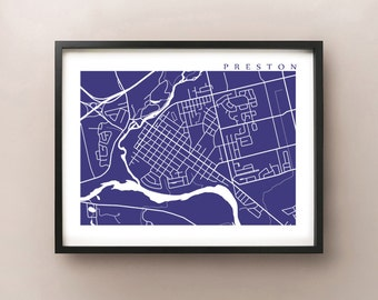 Preston, Cambridge Map Print - Ontario Poster Art
