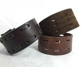 DIY Leather for cuff bracelets - set of 3 large