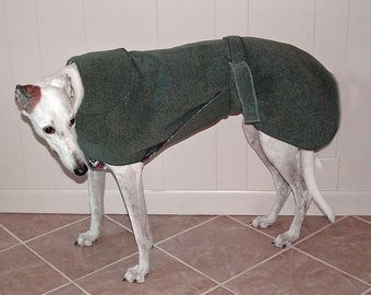 W9 Gray Heather Greyhound Winter Coat.  1 of each size available.  Free Shipping!