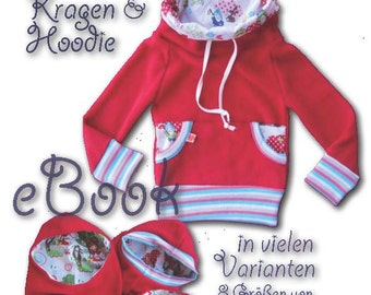 Xini Mini *** eBook PDF file children hoodie with hood collar sewing with section 8 double sizes 68/74 to 152/158 many variants