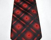 Red and blck rhinestones necktie