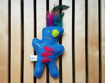 Quirky catnip zombie/ voodoo toy catnip toy uk