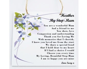 Step-mum Poem Personalised Gift.