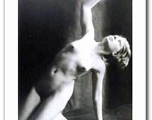 Artistic Erotic Risque Nude Female REPRO Vintage Postcard