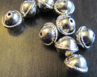 14mm Silver Spacer Beads - 20PCS