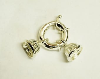 Silver Plated Spring Ring Clasp