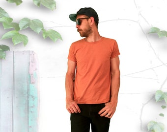 Minimal Dusty Orange Tee Shirt - FREE SHIPPING!!!