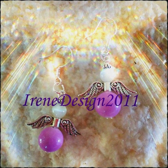 Handmade Silver Guardian Angel Earrings by IreneDesign2011