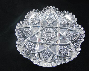 American Brilliant Cut Glass Dish
