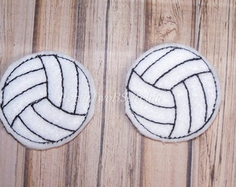 """1.5"""" Volleyball - Sports - Felties - In The Hoop - DIGITAL Embroidery Design"""