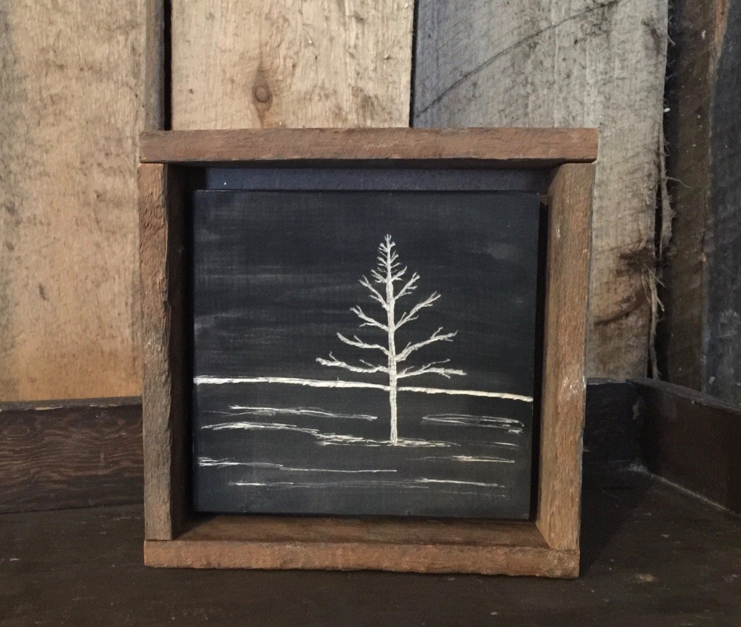 Hand Engraved Wood Primitive Home Decor Rustic Wall Art