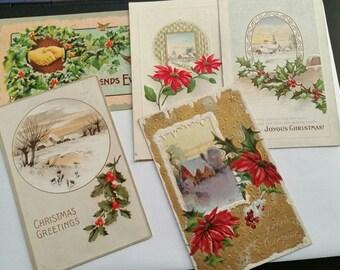 Christmas Postcards Set of 5