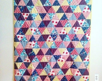 Red, Blue & Yellow Quilt