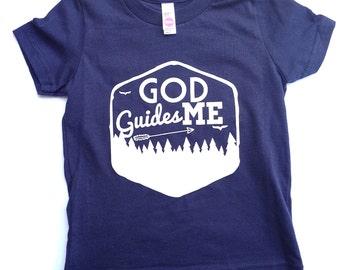 God Guides Me toddler/boy tshirt