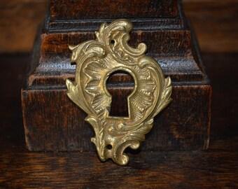 Antique Keyhole Small French Brass Escutcheon Hardware