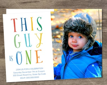 First birthday boy invitation Etsy