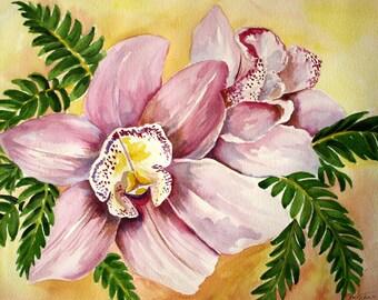 PINK FLOWER - Original Watercolor