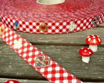 "Woven ribbon ""Herzilein"" Bavaria Oktoberfest"