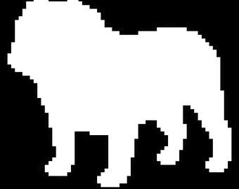 Instant Download - English Bulldog Silhouette