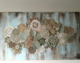 Doily Collage Painting
