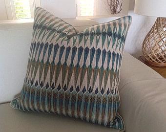 Teal Cushions Modern Pillows Designer Cushion Covers Teal and Tan Cushions, Natural Scatter Cushions, Decorative Pillows Coastal, Urban