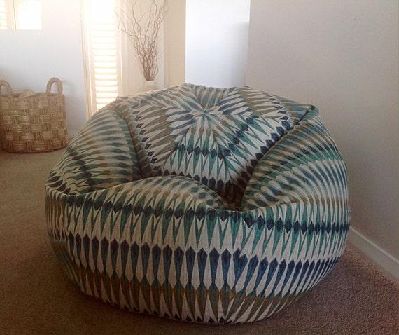 bean bag beanbag bean bag chair teal aqua blue by mybeachsidestyle. Black Bedroom Furniture Sets. Home Design Ideas