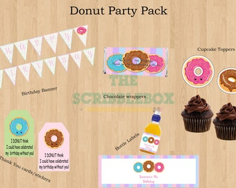 Donut Printables Party Pack