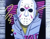 Jason T.G.I.F. Vinyl Sticker 3 in x 4 in Artwork by Bamboota