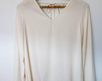 Cream Oversized Shirt