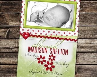 Birth Announcement - Printable