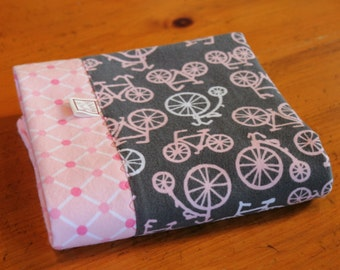 Personalized Bicycle Baby Blanket - Pink Bike Baby Bedding - Girl Bicycle Blanket - Personalized Baby Blanket - Cotton Baby Swaddle