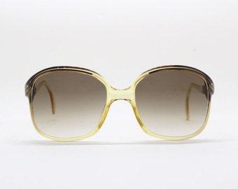 Zeiss sunglasses, made in Germany, 70s, beige frame, retro, eyewear, original, classic, unusual glasses,