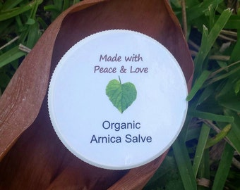 Organic Arnica Salve,  Soothing Muscle Salve, Sore Muscle Cream, Bump & Bruises Salve
