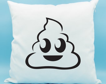 Poop Emoji Pillow - Poo Emoji Pillow - Pile of Poo Emoji Pillow - Poop Emoji Cushion - Poop Pillow Cover 16x16