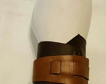 Rey inspired leather wrist cuff