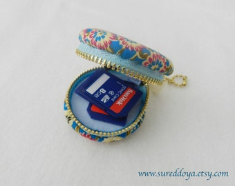 Macaron Coin Purse, jewelry trinket box, SD Memory Card Holder (M)