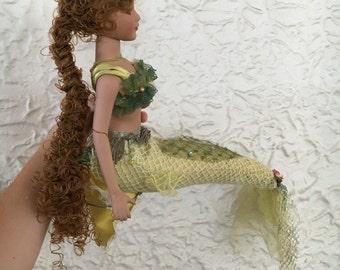 Mermaid Glass Doll