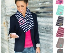 how to wear a monogrammed scarf