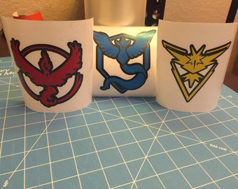 Pokemon Go Team Valor, Team Mystic, Team Instinct car decal, computer decal, laptop decal