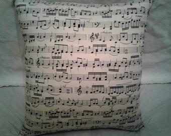 Sheet Music Pillow, 14 x 14 Decorative Pillow