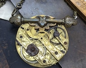 Circa 1800 Steampunk pocket watch necklace Handcrafted artistic jewelry -The Victorian Magpie