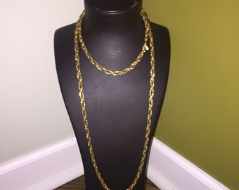 Extra long vintage gold Monet chain